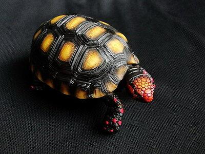 Geochelone carbonaria Red footed tortoise model replica ornament sculpture turtl