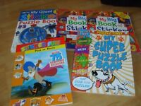 childrens sticker books all in pic smoke and pet free home top left never used, right few used