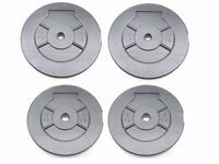 "Weights Plates Vinyl 5kg 10kg Training Weights 1"" Fitting Weight Lifting Plates UKFitness"