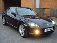 MAZDA RX-8 4DR (231) 1.3 REG 2006 COUPE BLACK WITH F.S.H+M.O.T+TAX FOR £2,750