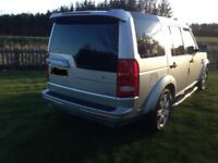 2005/2006 LandRover Discovery with Facelift. Manual, Silver, leather interior with entertainment