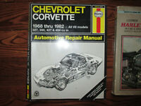 Haynes chevrolet Corvette 1968 a 1982 all v8 = 327 350 427 454