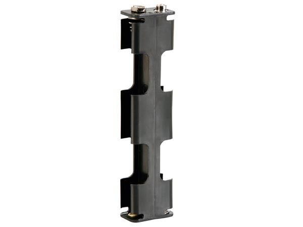 Velleman BH342B BATTERY HOLDER FOR 4 x AA-CELL (WITH SNAP TERMINALS)