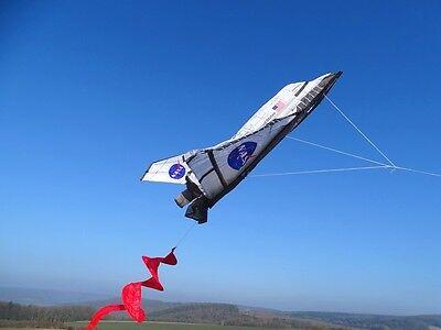 Einleiner-Drachen: 3 D Space Shuttle