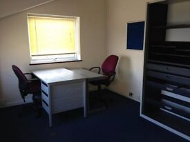 Office Available for 2-3 Persons fr £75wk.Fully Serv'd/24Hr Access/CarPk.5mins fr M275/Ports Central