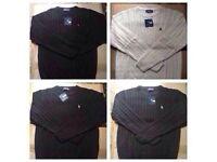 Ralph Lauren men's polo sweatshirts £15 each wool round neck