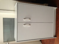 2 low cabinets, white - Downtown