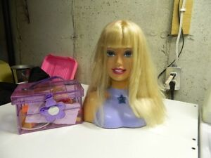 Barbie Doll Head with Accessories