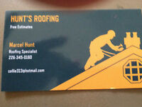 FREE ESTIMATES---HUNT'S ROOFING---AFFORABLE PRICES