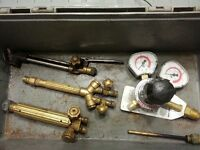 Various oxy acetylene torch parts and regulator $80.00 OBO