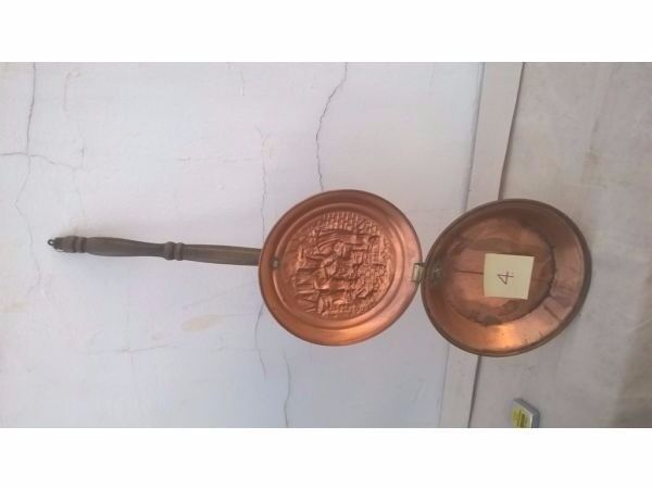 Antique Brass and Copper Bedwarmer - Style #4