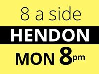 Monday 8pm - Friendly 7/8 a side football game in Hendon needs players