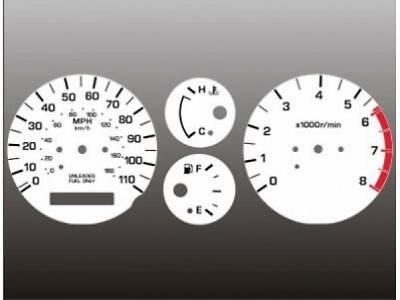 01 White Face Gauge - White Face Gauge Set Fits 2000-2001 Nissan Xterra Frontier Dash Gauge Cluster