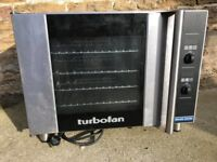 Blue seal turbofan Digital Electric Convection Oven silver an black