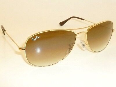 New RAY BAN Sunglasses  COCKPIT Gold  RB 3362 001/51  Brown Gradient Lenses (Ray Ban 3362 56mm)