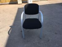 Black stackable visitor chairs