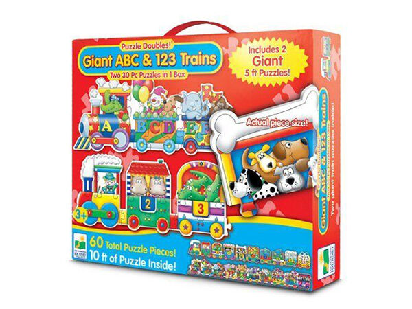 Giant ABC and 123 Train Floor Puzzle