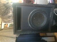 "10"" Sealed sub box, with older dub series speaker"