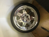 22' chrome american racing rims and tires 285/35/22