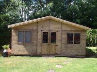 16ft x 8ft summerhouse/ shed/ office/ garden building