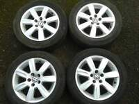 "GENUINE VW POLO 15"" RIVERSIDE ALLOYS & 185/60/15 TYRES. 5X100PCD FOX 6R0601025L"