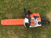 "Stihl MS180 Petrol Chainsaw - 14"" bar and chain - serviced"