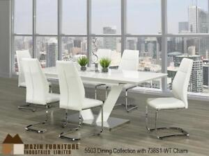WHITE KITCHEN TABLE SET (MA2239)