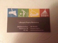 LaRocque's Property Maintenance- Fall Clean Ups & Snow Removal