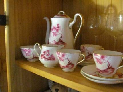 """~Shelley Coffee Set~ """"Rural England"""" Pattern ~Mint Condition~ Tallegalla Ipswich City Preview"""