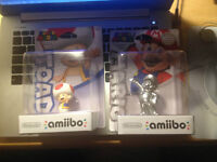 Toad and Silver Mario Amiibo for sale