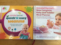 2x weaning books with lots of recipes