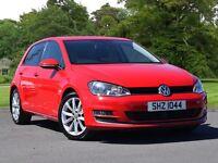 Volkswagen GOLF 2.0 TDI GT 5dr (red) 2014