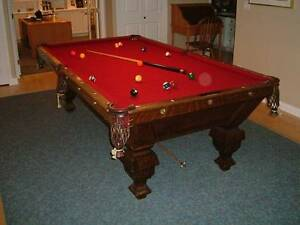 BRUNSWICK BAILKE COLLENDER POOL TABLE