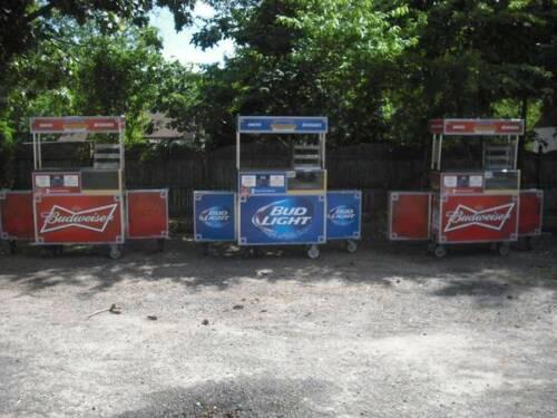 PORTABLE BAR BEVERAGE CART STREET FOOD VENDING CART CONCESSION STAND