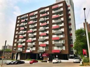 1 BDRM SUITE + Balcony FULLY RENOED DT HIGHRISE Incl ALL UTILITI