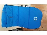 Bugaboo Velcro footmuff in blue