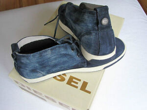 souliers Diesel Men's Boot Ink denim&suede /size 10,5-11-12 US