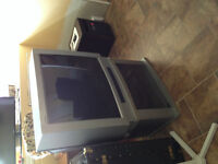 2002 Hitachi ultravision TV and stand.