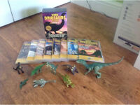 When Dinosaurs Ruled The World DVD 8 disc Box Set with Dinosaur Figures too