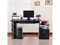 Wooden Office and Home Work Desk with Storage vX
