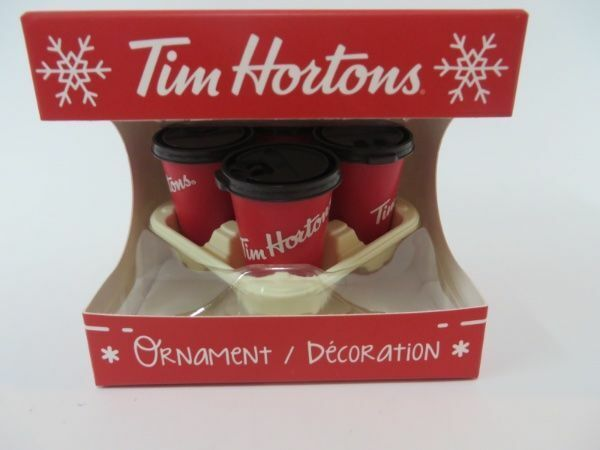 Tim Hortons Ornament 2018 Limited Edition NIB Coffee Cups in Tray