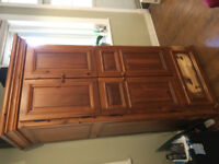 Solid Wood Armoire - 7 ft. tall