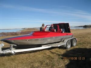 Jet Boat with aluminum trailer