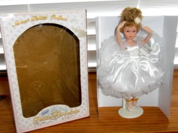 "7"" Sweet Petite Ballerina Porcelain Doll ~ Unique Affordable Collector Vintage"
