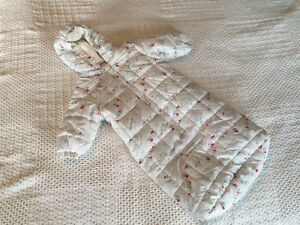 Snowsuit / Bunting bag for baby, 6-12 months