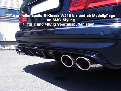Mercedes E Klasse W210 Diffusor Indianapolis f. AMG Stylingpaket Ausgang li & re
