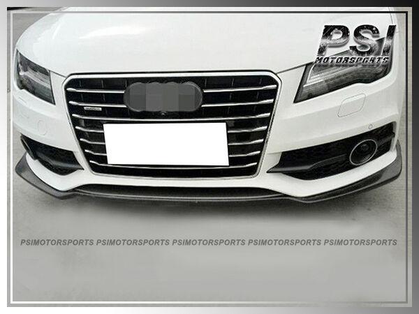 2012-2015 Audi 4G S7 JPM Style Carbon Front Bumper Lip Pre ...