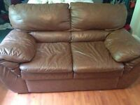 Two matching leather couches- must go