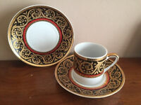 Arabic Coffee Cups with saucers (set of 6 or set of 12)