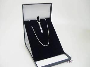 SLIMLINE BLUE LEATHERETTE NECKLACE JEWELLERY MEDAL PRESENTATION DISPLAY BOX CASE